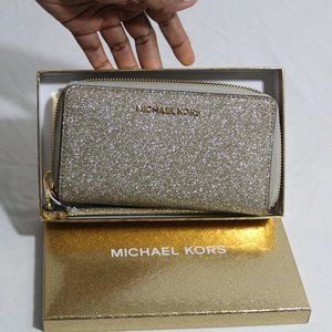 Gold Michael Kors Wallet/ Phone case